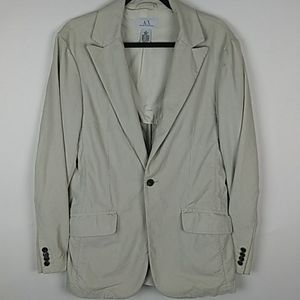 Armani Exchange One button Fashion Blazer
